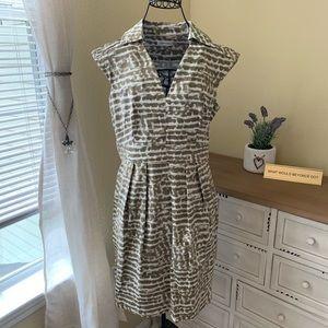 Light Brown & White Calvin Klein Dress